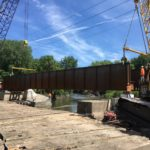 Installation of bridge for Iowa Interstate Railroad